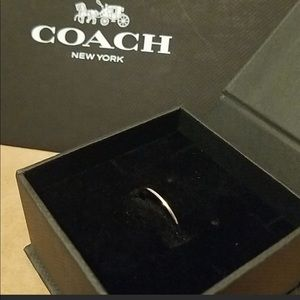 Coach Silver Ring Size 8